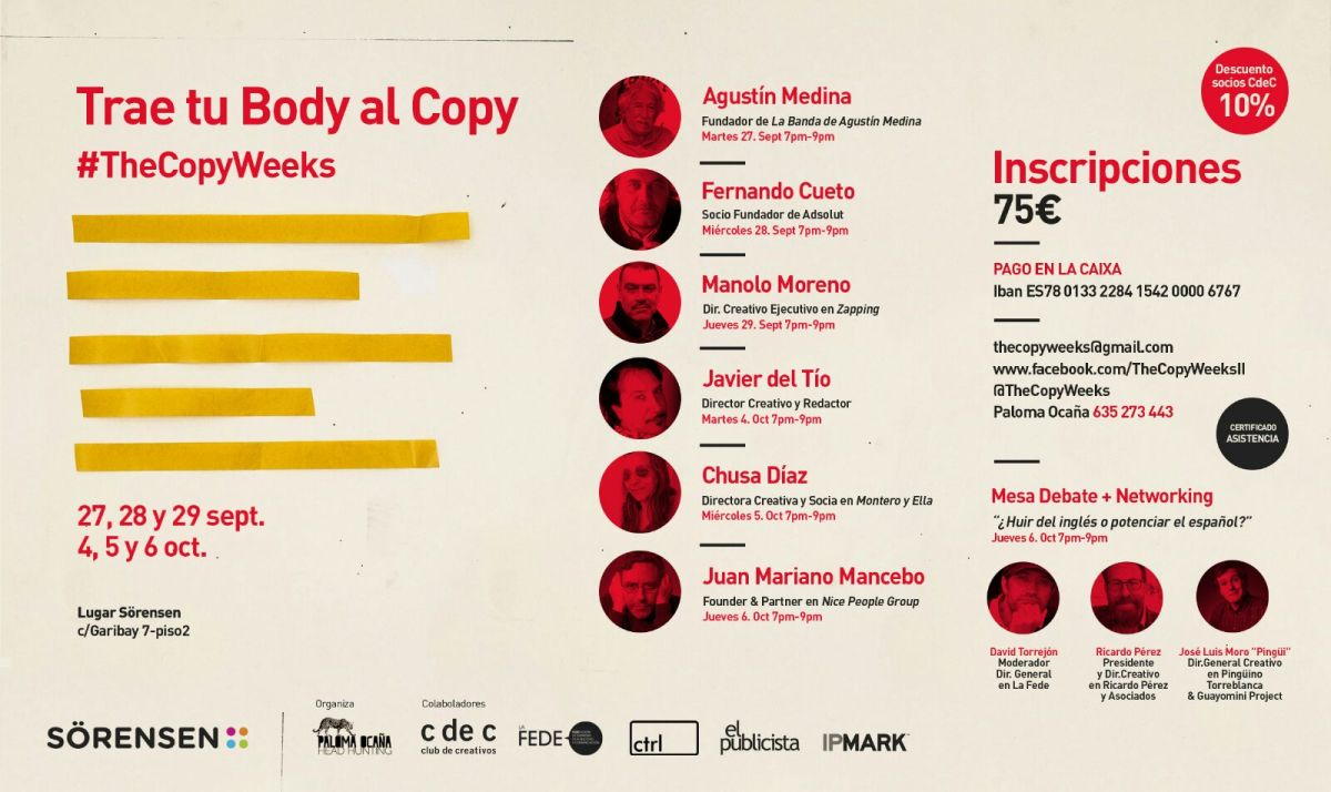 The Copy Weeks is back!